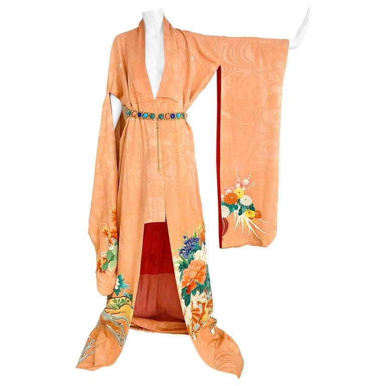 Vintage Japanese Silk Kimono  For Sale