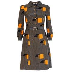 Vintage Japanese Silk Shirt Dress