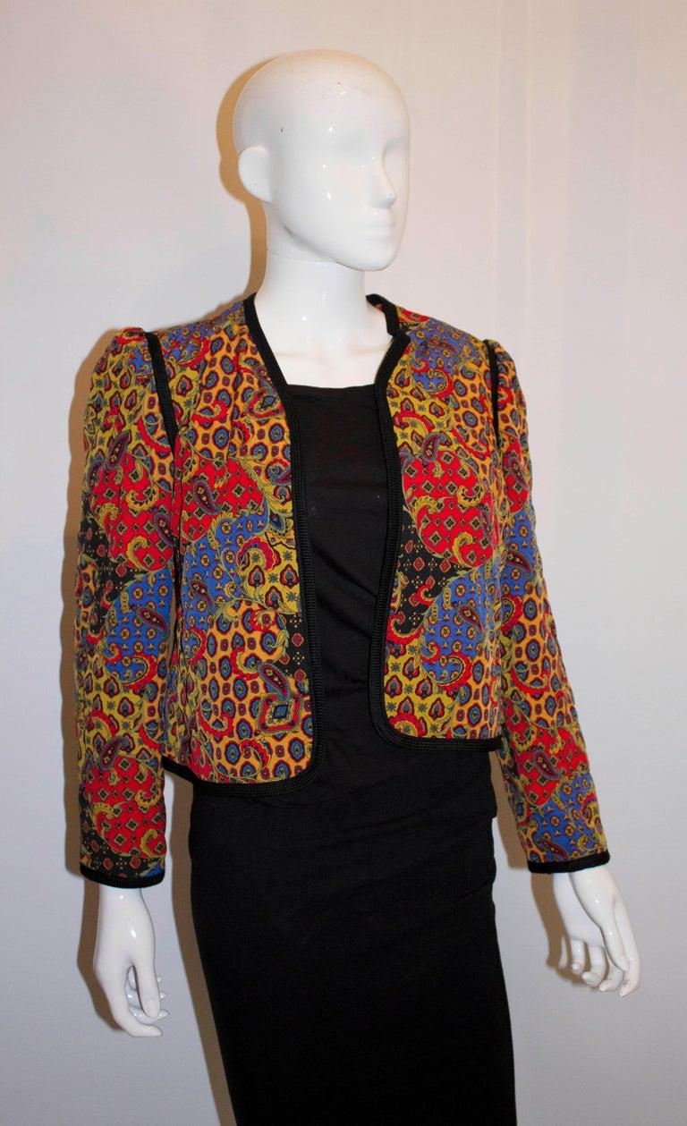 Black Vintage Jeager Quilted Jacket For Sale