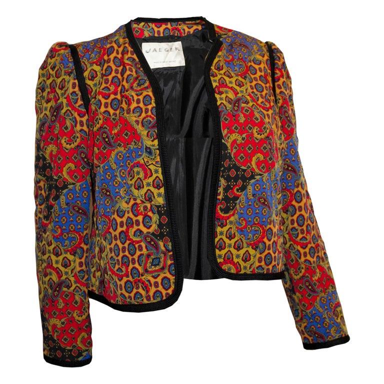 Vintage Jeager Quilted Jacket For Sale