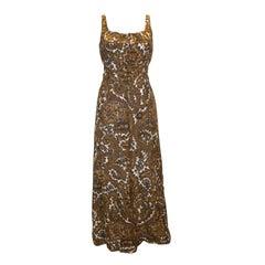 Vintage Jean Allen London Linen Gown