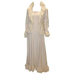Vintage Jean Allen Long Dress and Matching Jacket