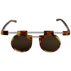 Vintage JEAN CHARLES de CASTELBAJAC Lucite Tortoiseshell Futuristic Sunglasses