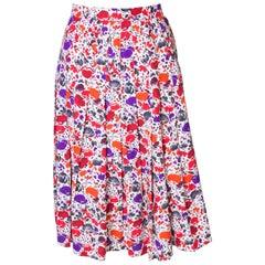 Vintage Jean Louis Scherer Numbered  Floral Skirt