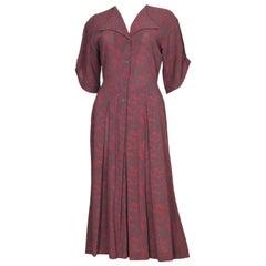 Vintage Jean Muir Printed Day Dress