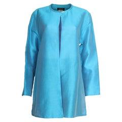 Vintage Jean Muir Turquoise Silk Jacket