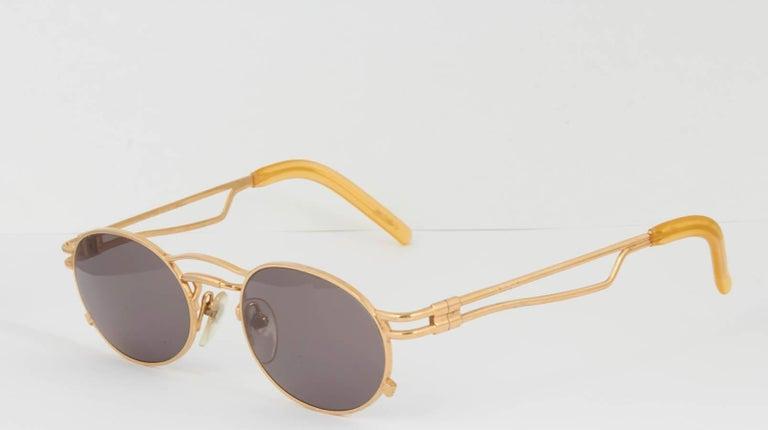 Brown Vintage Jean Paul Gaultier 56-3173 Sunglasses For Sale