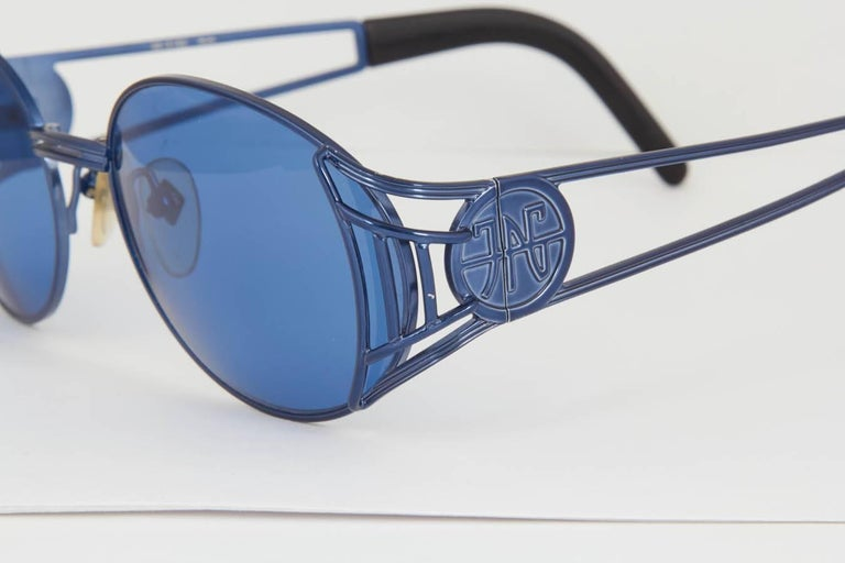 Blue Vintage Jean Paul Gaultier 58-6102 Sunglasses