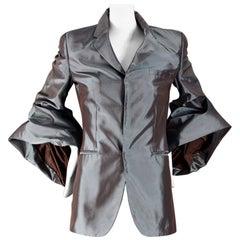 Vintage JEAN PAUL GAULTIER Bell Sleeves Iridescent Blazer Jacket