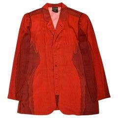 "Vintage JEAN PAUL GAULTIER ""Cyberbaba"" Body Map Optical Illusion Blazer Jacket"