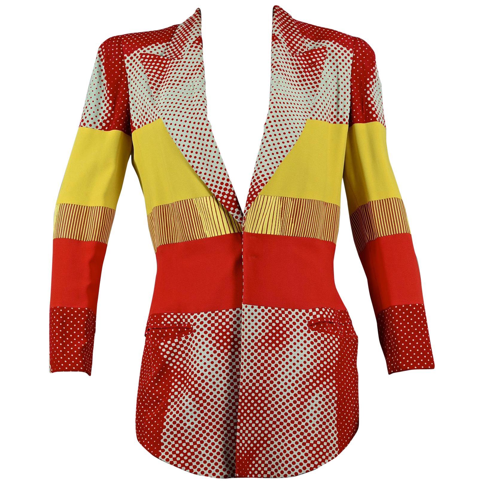 "Vintage JEAN PAUL GAULTIER ""Cyberbaba"" Body Optical Illusion Blazer Jacket"