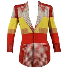 "Vintage JEAN PAUL GAULTIER ""Cyberbaba"" Body Optical Illusion Blazer Jacket"