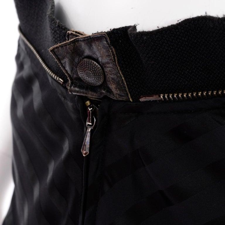 Vintage Jean Paul Gaultier Femme Black Tonal Striped Strapless Dress or Skirt For Sale 4