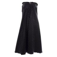 Vintage Jean Paul Gaultier Femme Black Tonal Striped Strapless Dress or Skirt