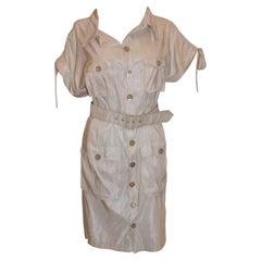Vintage Jean Paul Gaultier Femme Ivory Shirt Dress