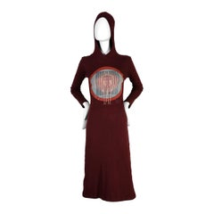 Vintage JEAN PAUL GAULTIER Human Anatomy Print Hooded Dress