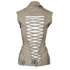 Vintage JEAN PAUL GAULTIER Iconic Lace Up Corset Vest Jacket