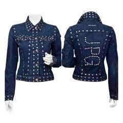 Vintage JEAN PAUL GAULTIER Logo Studded Denim Jacket