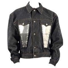 Vintage JEAN PAUL GAULTIER Metal Plate Pocket Denim Jacket