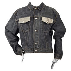 Vintage JEAN PAUL GAULTIER Metal Pocket Denim Jacket