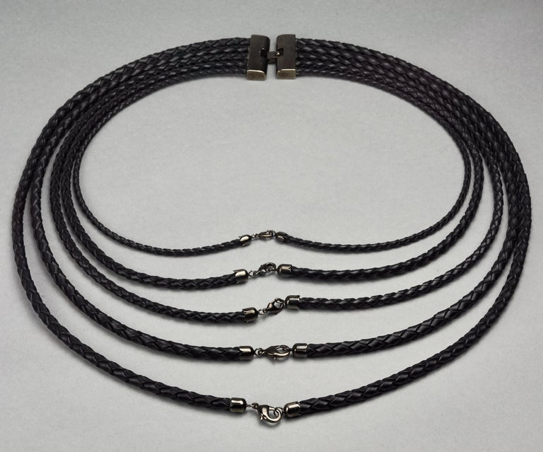 Women's or Men's Vintage JEAN PAUL GAULTIER Multi Layer Braided Leather Necklace Belt For Sale