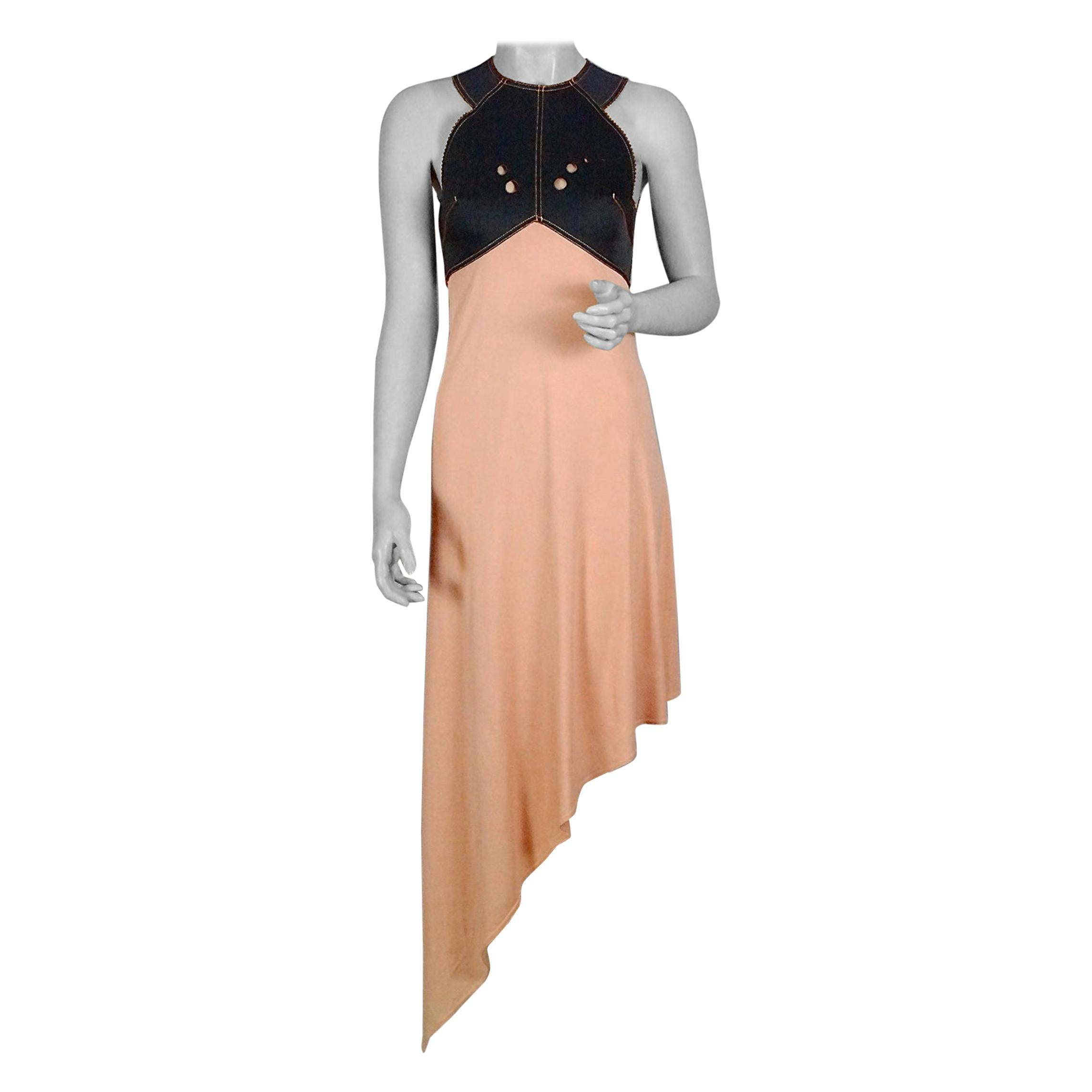 Vintage JEAN PAUL GAULTIER Neoprene Asymmetric Dress