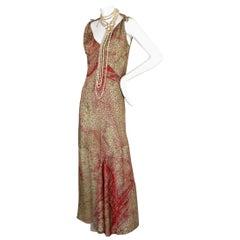 Vintage JEAN PAUL GAULTIER Optic Illusion Geometric Iridescent Asymmetric Dress