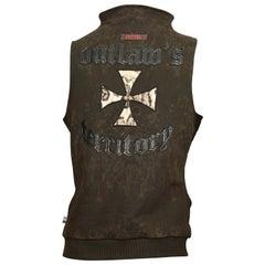 "Vintage JEAN PAUL GAULTIER ""Outlaws Territory"" Cross Leopard Print Vest Jacket"