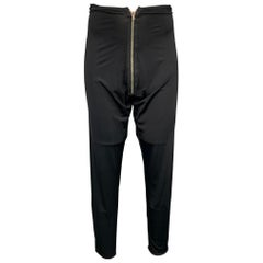 Vintage JEAN PAUL GAULTIER Size 36 Black Polyamide Front Zipper Legging