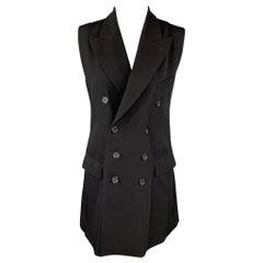 Vintage JEAN PAUL GAULTIER Size M Black Wool Blend Double Breasted Vest