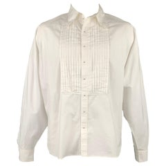 Vintage JEAN PAUL GAULTIER Size XL White Cotton Wing Sleeve Pleated Shirt