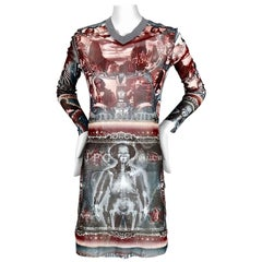 Vintage JEAN PAUL GAULTIER Skeleton Tattoo Dress
