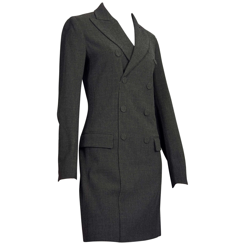 Vintage JEAN PAUL GAULTIER Smoking Double Breasted Wool Dress Suit