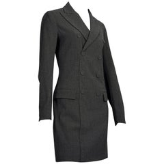 Vintage JEAN PAUL GAULTIER Smoking Double Breasted Wool Dress Suit