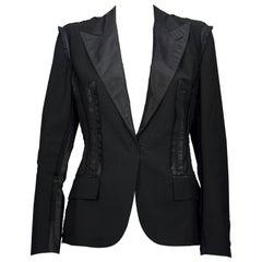 Vintage JEAN PAUL GAULTIER Smoking Trompe L'oiel Inverted Seam Blazer Jacket