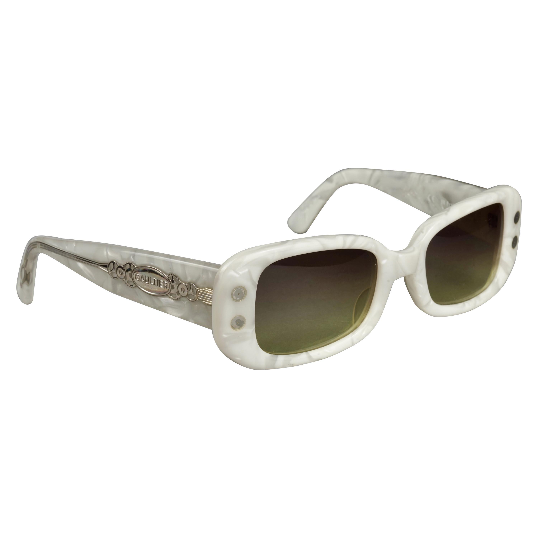 Vintage JEAN PAUL GAULTIER Steampunk White Sunglasses