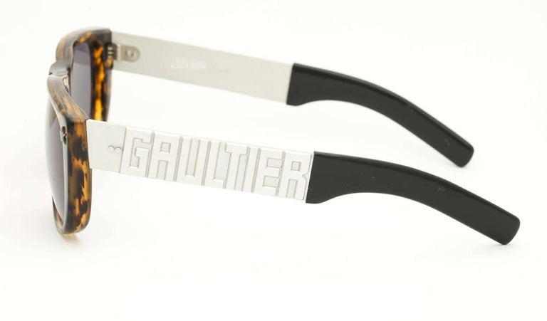 Gray Vintage Jean Paul Gaultier Sunglasses 56-8272