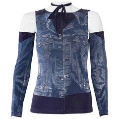 Vintage JEAN PAUL GAULTIER Trompe L'oeil Detachable Sleeves Top Shirt