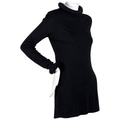 Vintage JEAN PAUL GAULTIER Tube Collar Cuff Black Dress