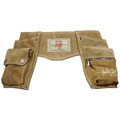 Vintage JEAN PAUL GAULTIER Utility Suede Leather Fanny Belt Bag