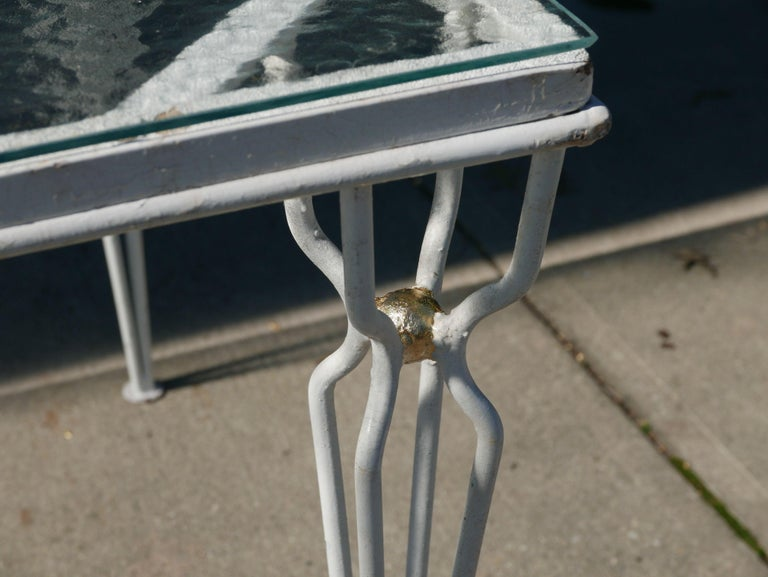 Mid-Century Modern Vintage Parzinger style Table, circa 1950 For Sale