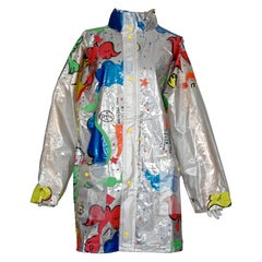 "Vintage JEANS CHARLES de CASTELBAJAC ""Breakfast Time"" Pop Raincoat with Back Bag"
