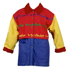 Vintage JEANS CHARLES de CASTELBAJAC Ko and Co Pop Colour Coat