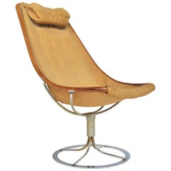Vintage Jetson High Back Swivel Lounge Chair by Bruno Mathsson for DUX
