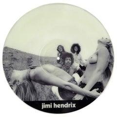 Vintage Jimi Hendrix Illustrated Vinyl Record