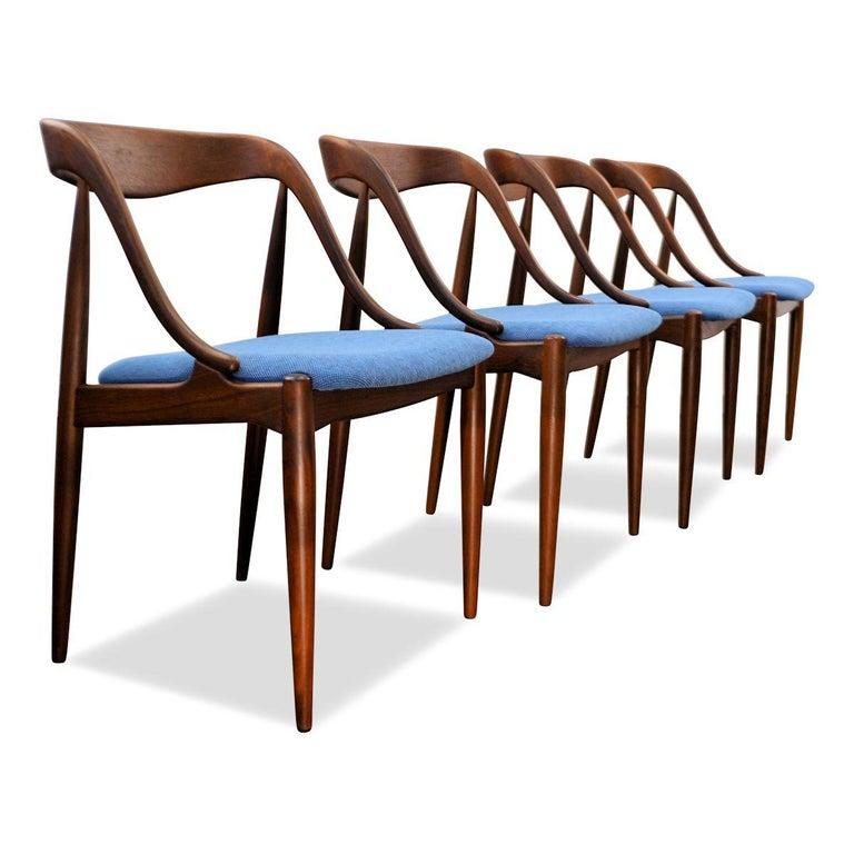 Mid-Century Modern Vintage Johannes Andersen Teak Dining Chairs, Set of Four For Sale