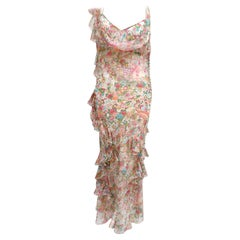 Vintage John Galliano for Christian Dior long silk dress