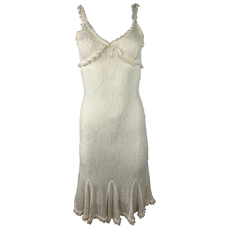 Vintage John Galliano White Lace Dress