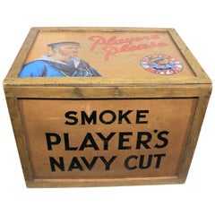 Vintage John Players Navy Cut Cigarette Advertising Shipping Crate or Box