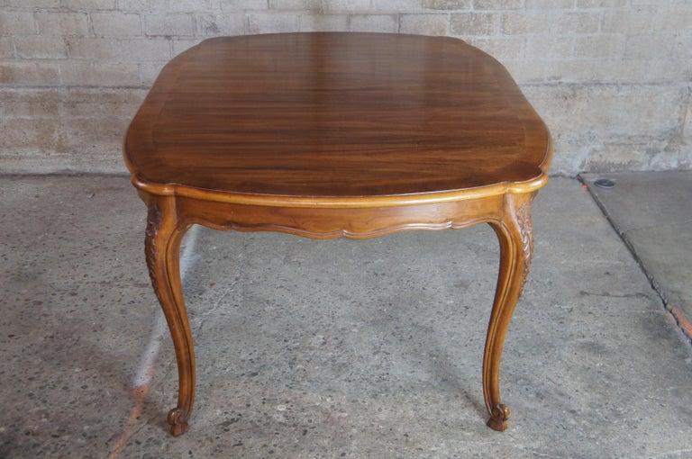 Vintage John Widdicomb Louis XV French Country Coa & Walnut Dining Table 7